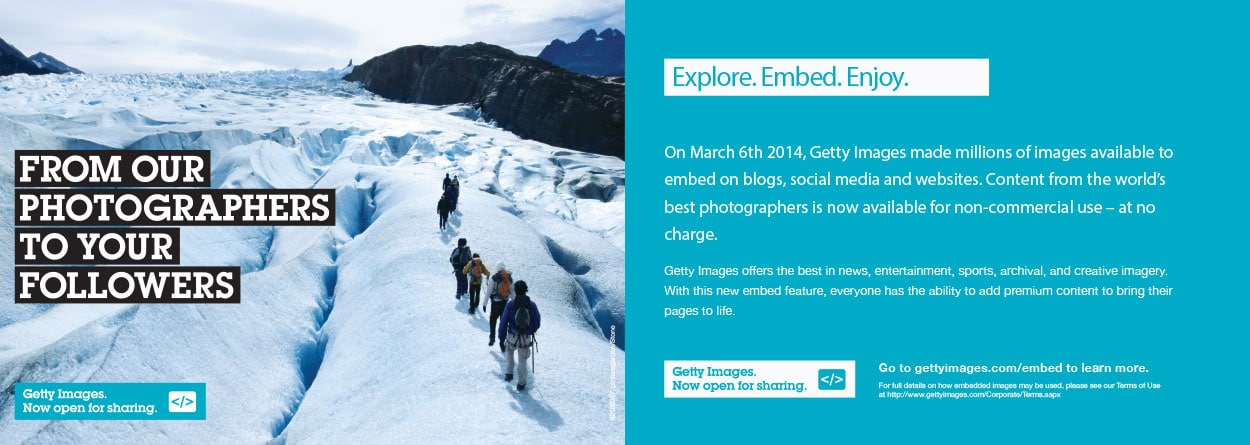 Getty Images sample promo materials