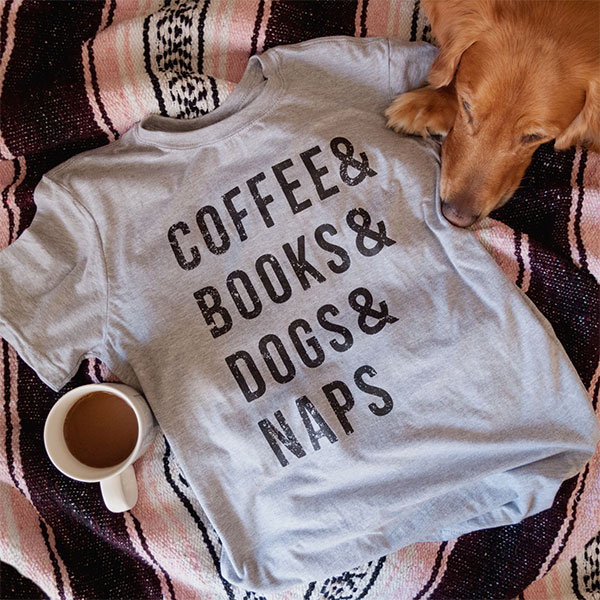 Amazon feature showing a cofee themed tshirt