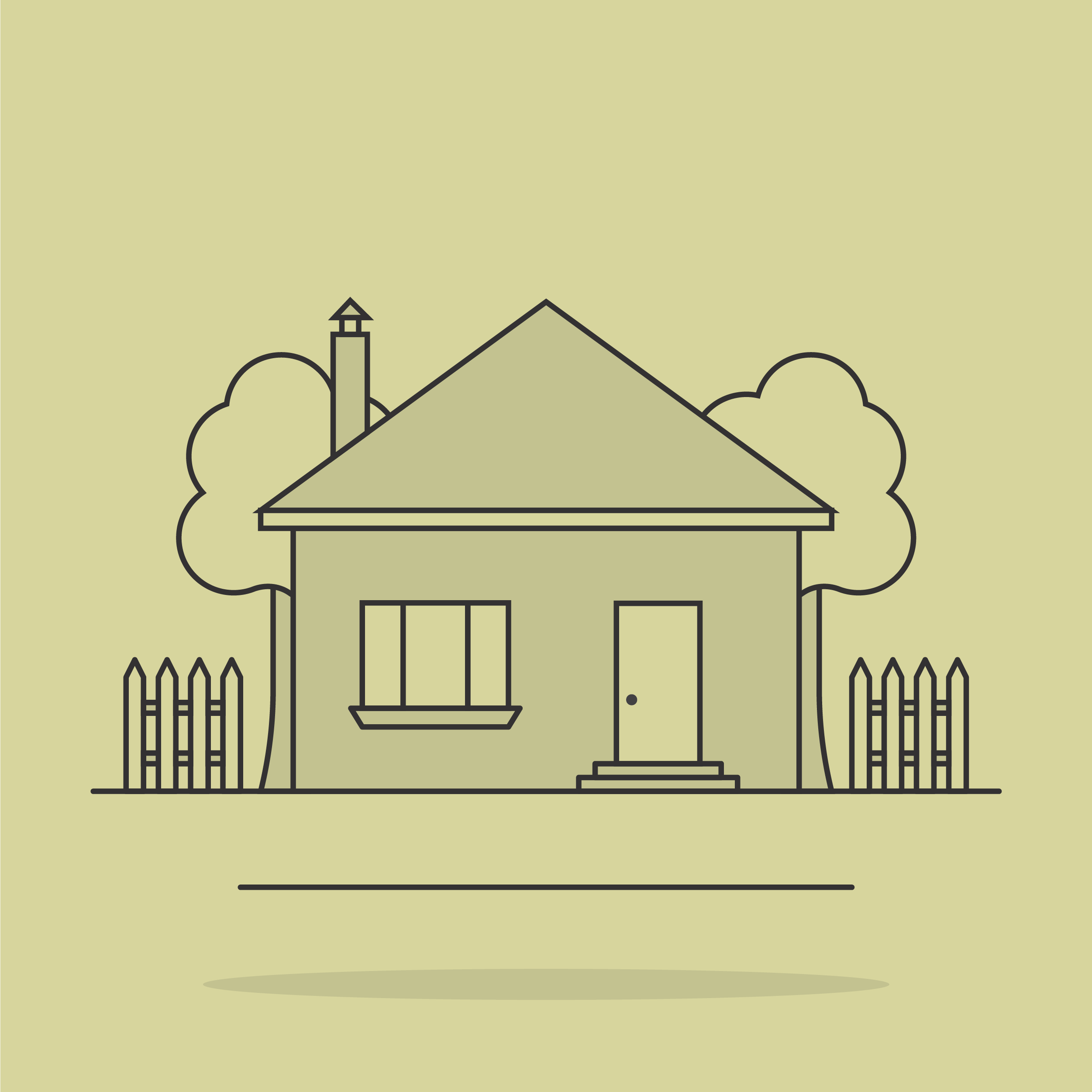 graphic of a suburban house